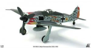 Luftwaffe Major Hermann Graf, JG52, Focke-Wulf FW 190A-5 Diecast Aircraft Model 1.72 Scale Jcwings JCW-72-FW190-001