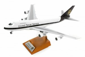 United Parcel Service(UPS) Boeing 747-283B(SF) Reg N523UP with stand 1/200 Scale Airplane Model Inflight200 WB-747-UPS