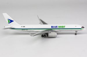 Blue Dart Aviation Boeing 757-200PCF/w Reg VT-BDB 1/400 Scale Diecast Aircraft Model NGModel 53156