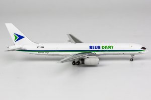 Blue Dart Aviation Boeing 757-200PCF Reg VT-BDA 1/400 Scale Diecast Aircraft Model NGModel 53155