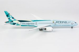 "Etihad Airways Boeing 787-10 Dreamliner Reg A6-BMH ""Greenliner"" livery 1/400 Scale Diecast Aircraft Model NGModel 56005"