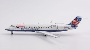 "British Airways Bombardier CRJ-200LR  ""World tail - Chelsea Rose"" Livery Reg G-MSKN 1/200 Scale Diecast Aircraft Model NGModel 52016"