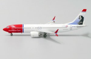 "Norwegian Boeing 737-8 Max ""Oscar Wilde Livery"" Limited Edition Reg LN-BKA 1/400 Scale Diecast Metal Aircraft Model Jcwings XX4151"