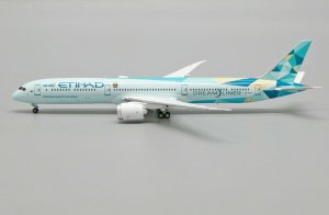 Etihad Airways Boeing 787-10 Dreamliner (Greenliner Livery) Reg A6-BMH 1/400 Scale Diecast Aircraft Model Jcwings XX4300