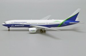 "House Colors Boeing 777-200 ""Eco Demonstrator Livery"" Reg N772ET 1/400 Scale Diecast Metal Aircraft Model Hogan XX4216"
