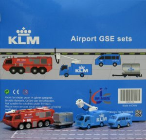 KLM GSE(Ground Service Equipments) Set 6 1/200 Airport Scenic Series Jcwings XX2026