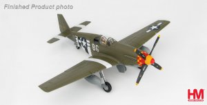 "North American P-51B Mustang ""Blackpool Bat"" 324842, 363rd FS/357 FG, WWII Diecast Aircraft Model 1.48 Scale Hobbymaster HA8512"