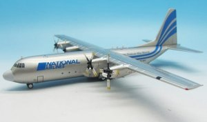 National Airlines Lockheed L-100-30 Hercules (L-382G) S9-BAT With Stand 1/200 Diecast aircraft model