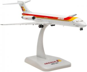 Iberia Airways McDonnell Douglas MD-87(EC-EXG CIUDAD DE ALMERIA) 1.200 Scale Diecast metal Aircraft model Hogan HG5675