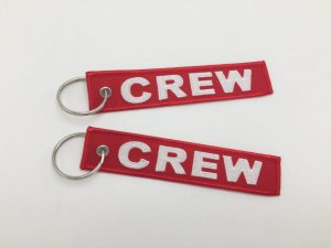 CREW TAG KEYRING RED COLOR
