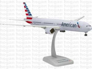 American Airlines Boeing 777300ER  new livery with WIFI radome 1.200 scale Aircraft Model 10512GR