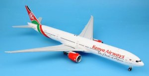 Kenya Airways Boeing 777-300ER 5Y-KZZ With Stand 1/200 Scale Diecast Airplane model
