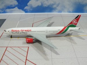 Kenya Airways Boeing 777200ER Reg 5Y-KQT 1/400 Scale Diecast Metal Aircraft Model Dragonwings 55588