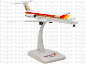 Iberia Airways McDonnell Douglas MD-87(EC-FHD CIUDAD DE ALMERIA) 1.200 Scale Diecast metal Aircraft model Hogan HG5705