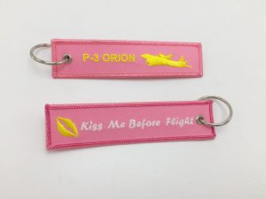P3 ORION/KISS ME BEFORE FLIGHT KEYRING PINK COLOR