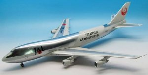 Japan Airlines - JAL Super Logistics Boeing 747-200 JA8180 with stand 1/200 Scale Airplane Model