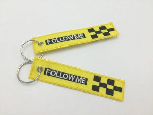 FOLLOW ME TAG KEYRING YELLOW COLOR