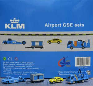KLM GSE(Ground Service Equipments) Set 2 1/200 Airport Scenic Series Jcwings XX2022