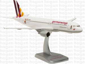 "Germanwings Airbus A320 ""WICKIE"" Reg D-AIQM without gear 1.200 scale airplane model Hogan HGGW03"