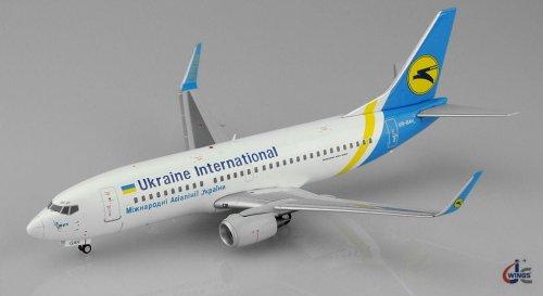Ukraine International Airlines Boeing 737-300 UR-GAH 1/200 Scale Diecast  Metal Aircraft Model Jcwings XX2691